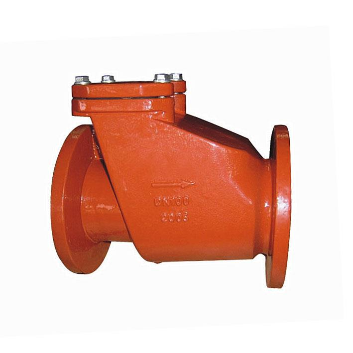 Swing check valve, Rubber Coated Disc, DIN standard, Flanged, PN10/16