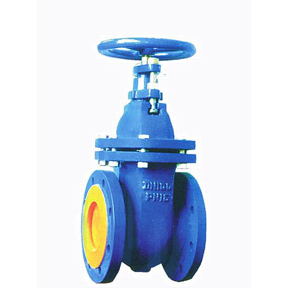 DIN cast iron wedge gate valve, Flat body, NRS/RS, Flanged, PN10/16