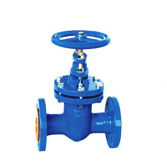 DIN cast iron wedge gate valve, Oval body, NRS/RS, Flanged, PN10/16