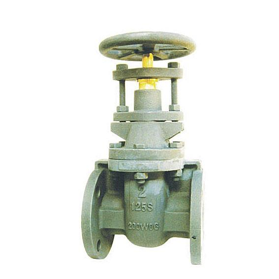 MSS-SP-70 cast iron wedge gate valve, NRS/OS&Y