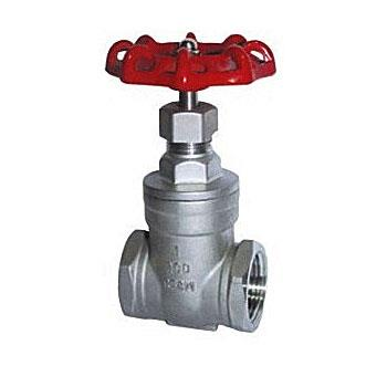 Screwed gate valve
