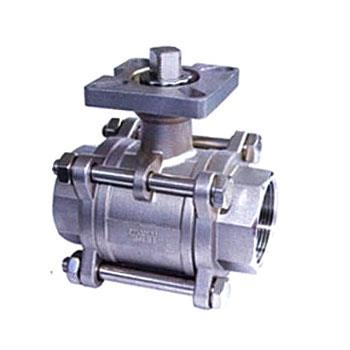 3Pieces ball valve with a platform