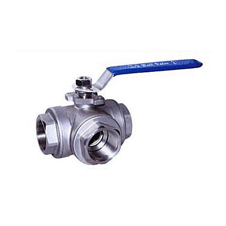 Female tee ball valve