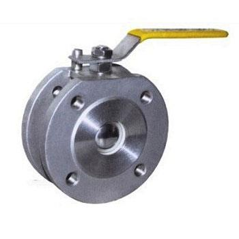 Thin type flanged ball valve